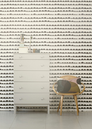 Things I Love last week! Wallpaper halfmoon by Ferm Living, lovely words and soft colours.