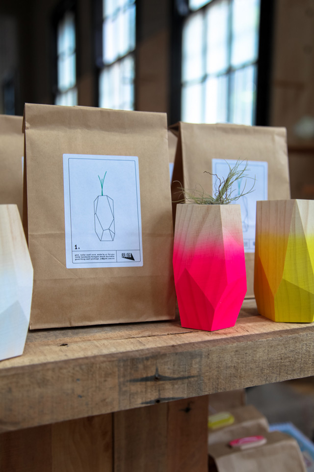 GLOH faceted vases and planters by Koskela