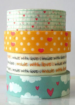 I was totally inspired by Cutetape.com. What I found in this store? All kinds of Japanese washi tape, cute stamps, paper straws, deco stickers and tape dispensers. So many ingenious products!