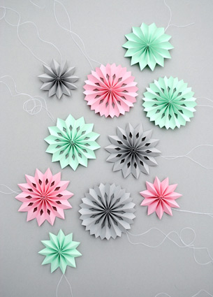 Today I discovered Mini-eco, an amazing blog with lots of DIY tutorials. I spend my whole Sunday morning reading and browsing this site and got inspired to start crafting by this Easter garland and paper heart below.