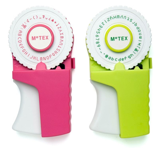 How retro-cool? Motex old school label maker is available in pink and green