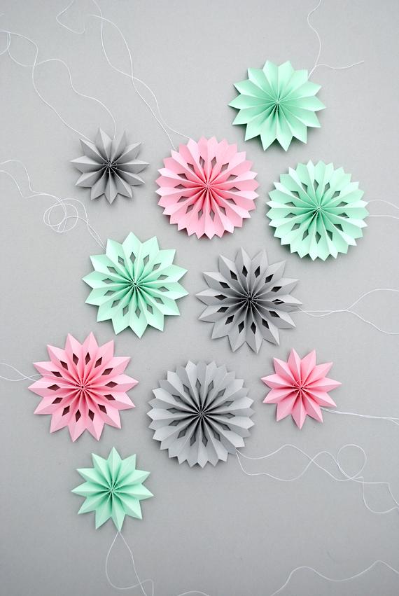 Mini paper decorations