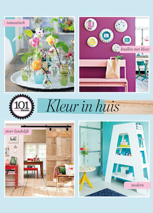 Have you seen the new April issue of 101 Woonideeen? The enclosed mini colour special has been produced in collaboration with kleurinspiratie.nl. And I was responsible for the production of this mini special. My first print job, I'm so excited about it!