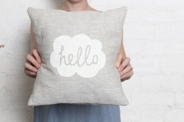 Cushion hello