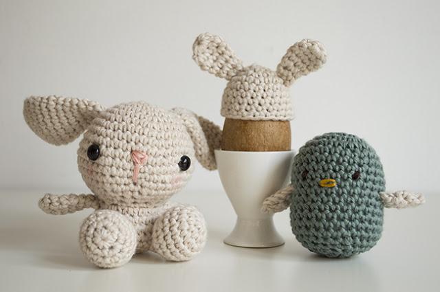 DIY Easter bunny, egg warmer & bird