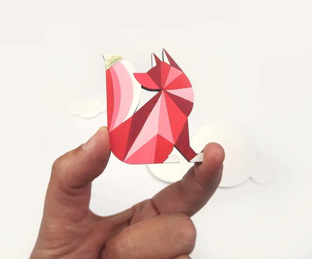 Geometric brooch fox by SketchInc