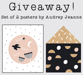 Win one set of these cute posters by Audrey Jeanne
