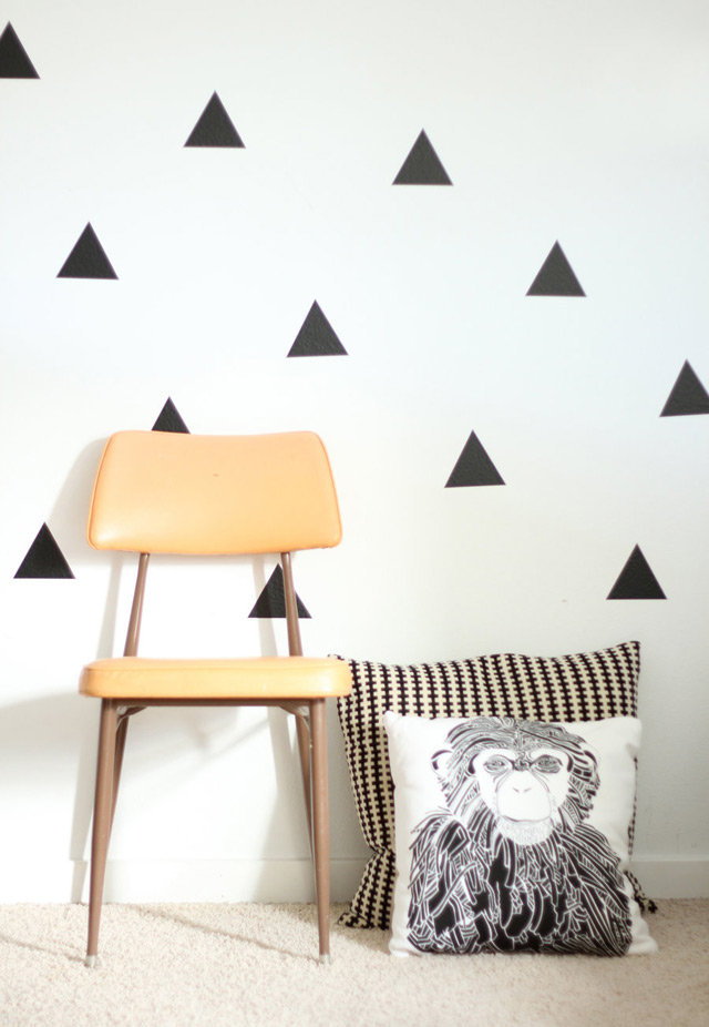 Vinyl wall stickers triangles