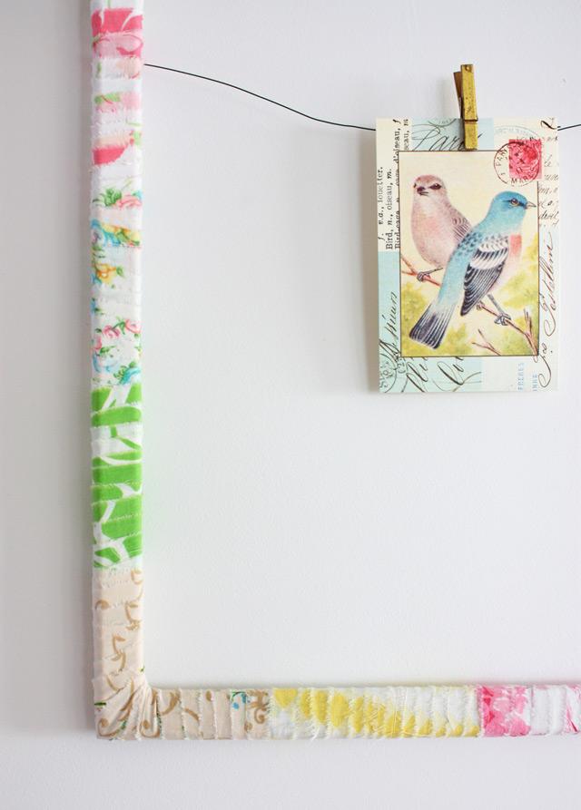 DIY wrapped frame