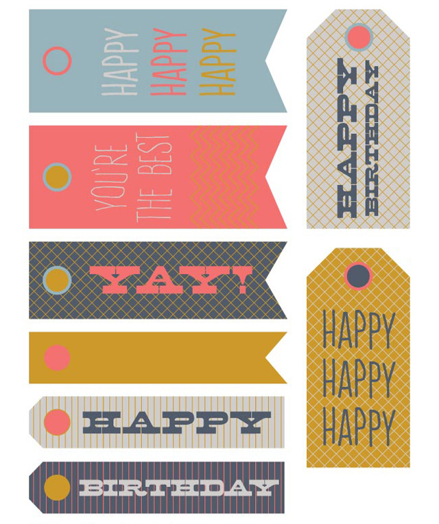 Free printable birtday tags by Lula Louise