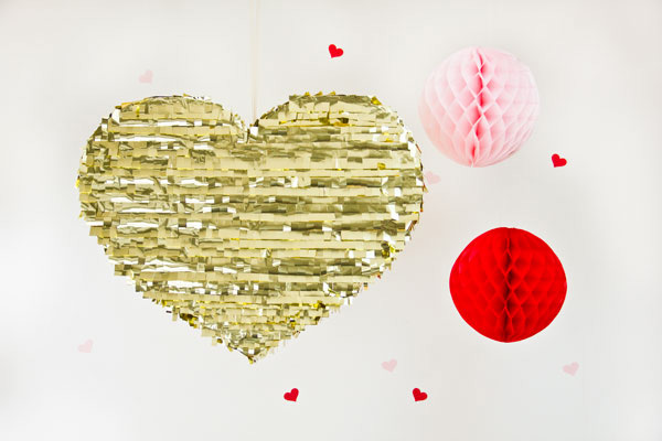 DIY Valentine's Day gold