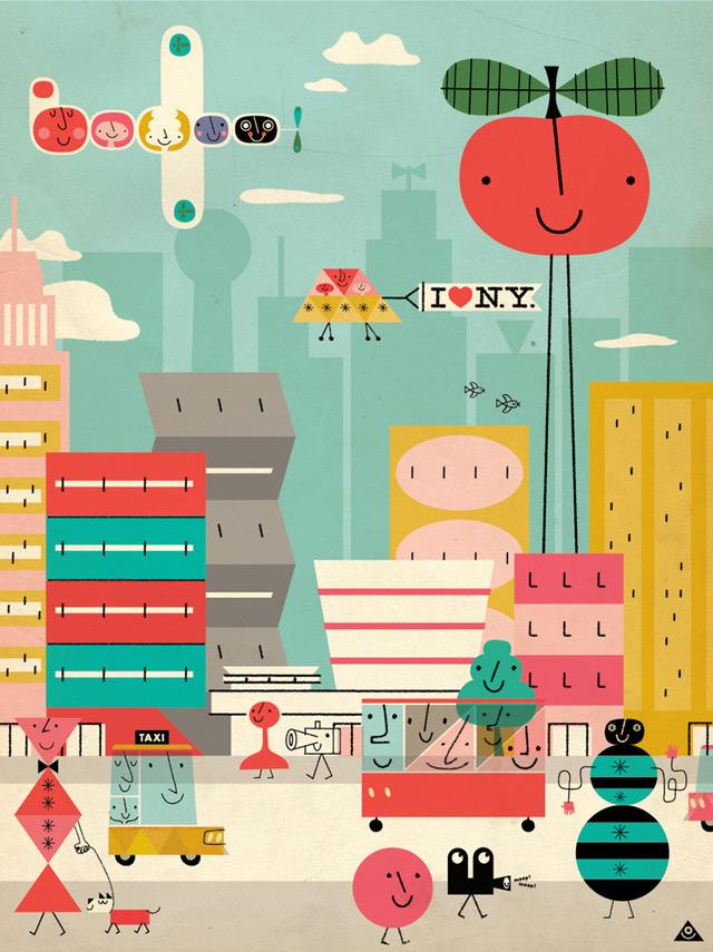 Illustration 'I heart NY'  by Eric Comstock