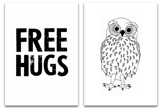 Free hugs & Owl by Jots Lifestyle