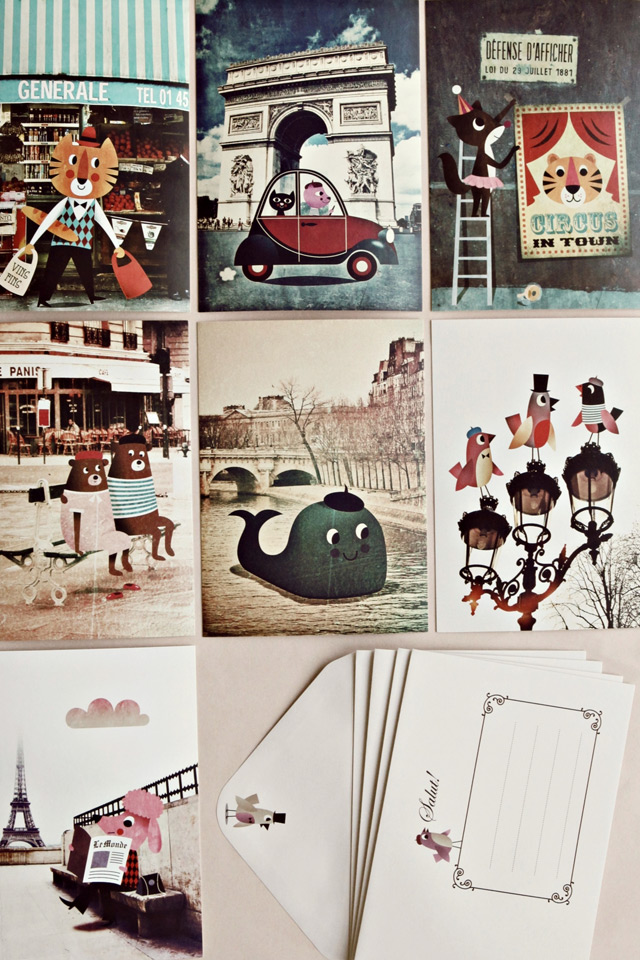 Mini prints Paris by Ingela P