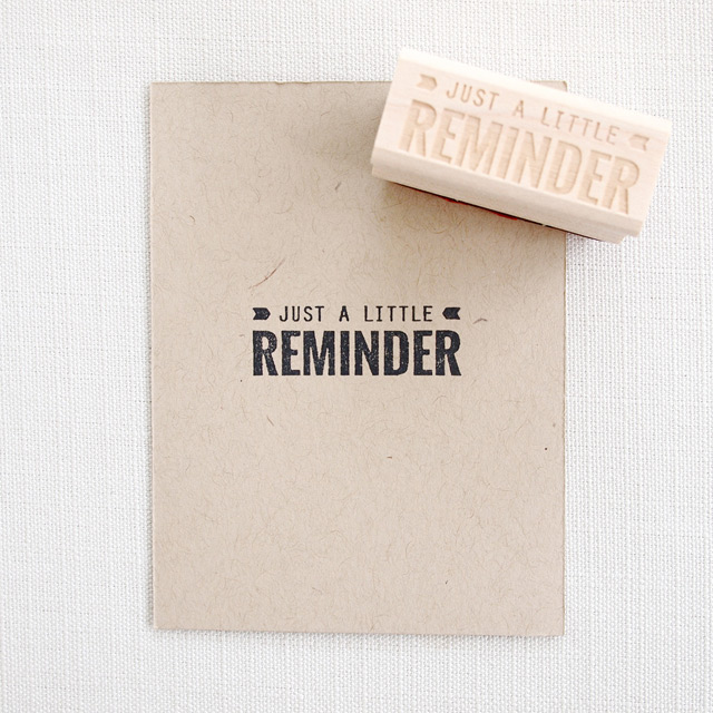 Stamp 'Just a little remember'