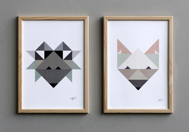 Illustration Hedgehog (left)  and Fox (right) by Silke Bonde