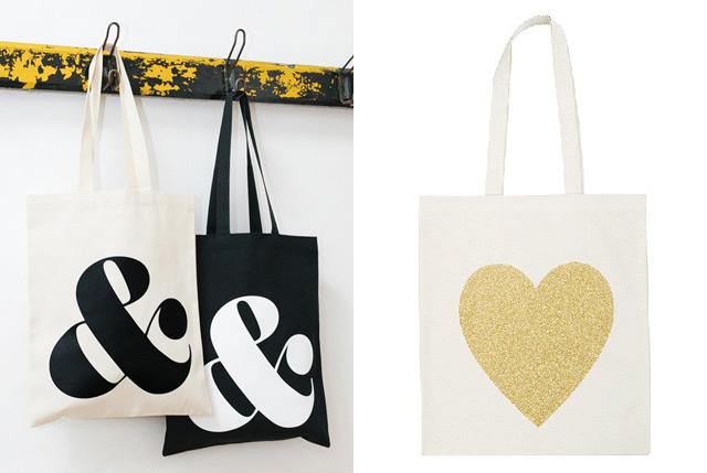 Tote Bags Ampersand & Heart - La Vie Jolie
