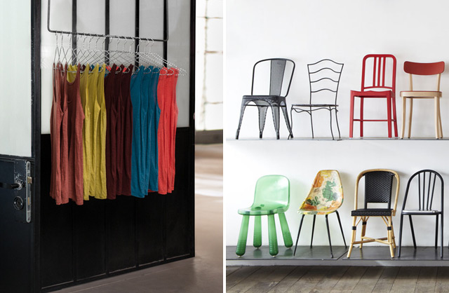 Chairs & clothing by Merci shop