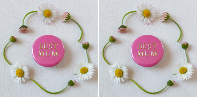 Mother's Day gift: brooche best mum
