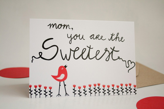 Mother's Day card 'Mum, you are the sweetest' by Heedopter