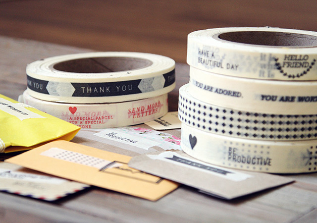 Message masking tape, concept and design by Oh hello friend