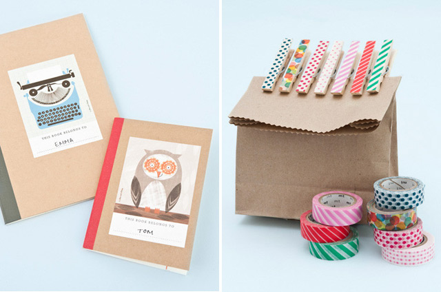 Bookplates & washi tape by Papermash