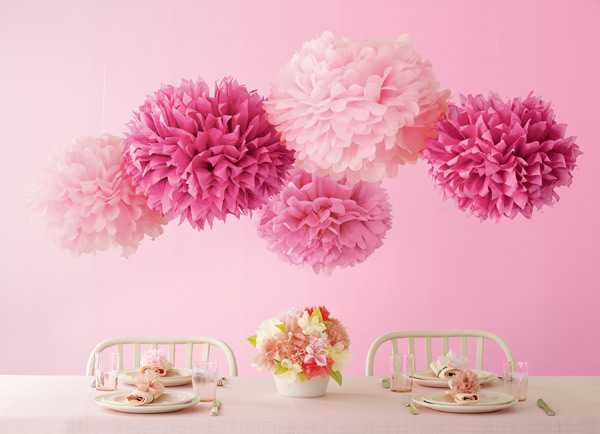 Pink pom poms from Martha Stewart Crafts