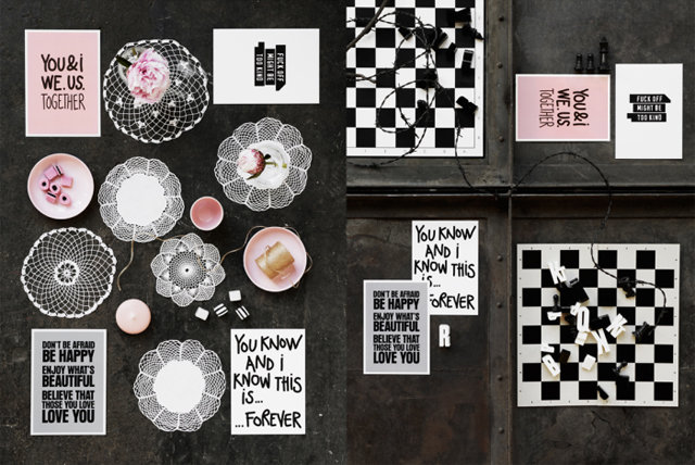 Set of four postcards by Therese Sennerholt