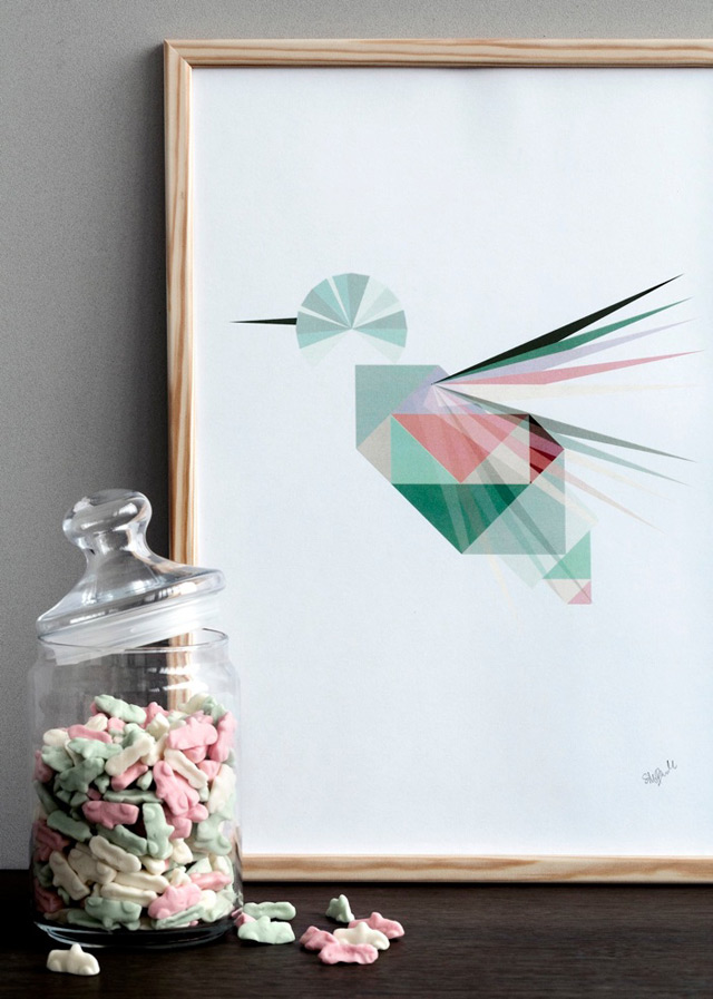 Illustration Colibri by Silke Bonde