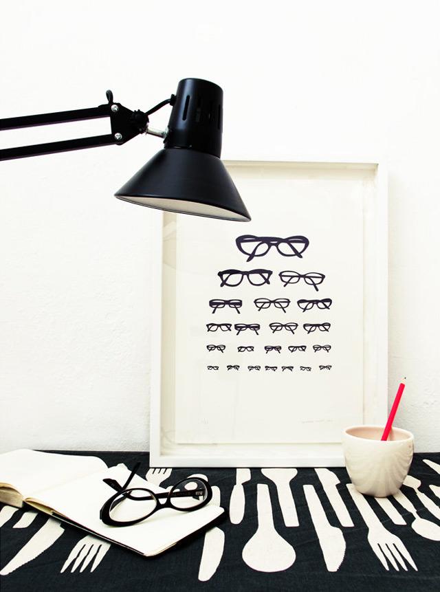 Silkscreen print Eye chart by Skinny laMinx