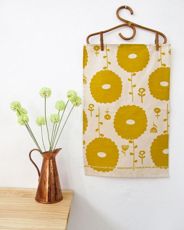 Tea towel Flower Dreams (lemon) by Skinny laMinx