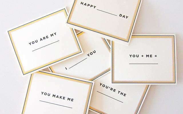 'Fill In The Blank' cards by These Are Things