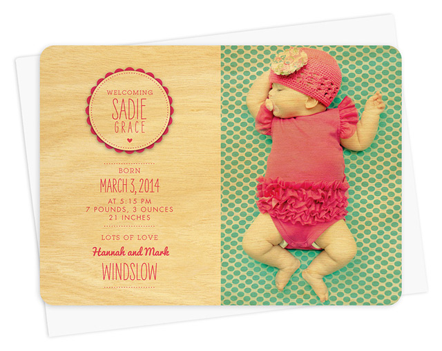 Personalize your own baby announcement card