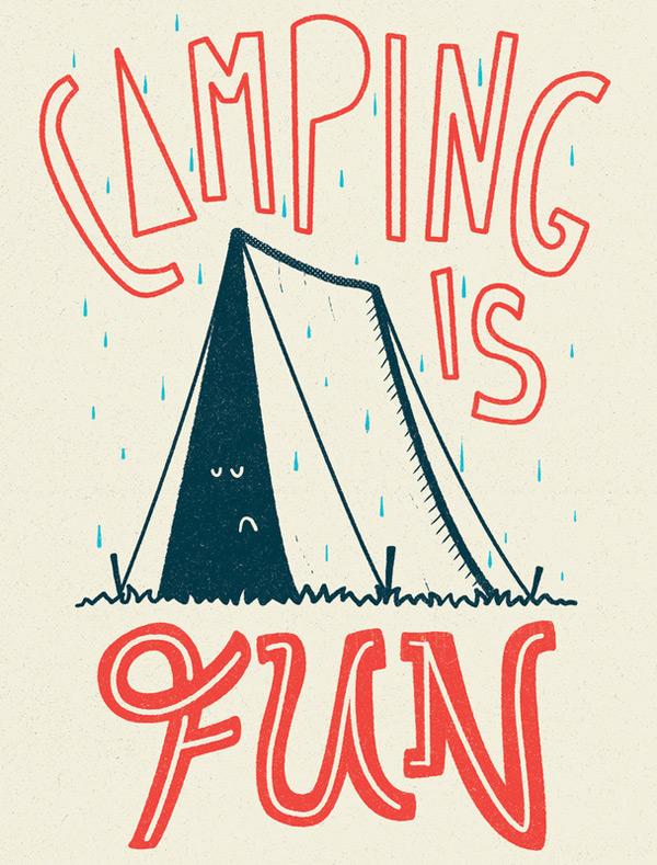 Print Camping Is Fun