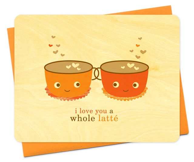 Card 'Latte love' by Night Owl Paper Goods