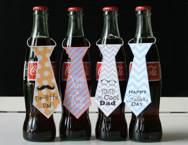 Free printable necktie bottle