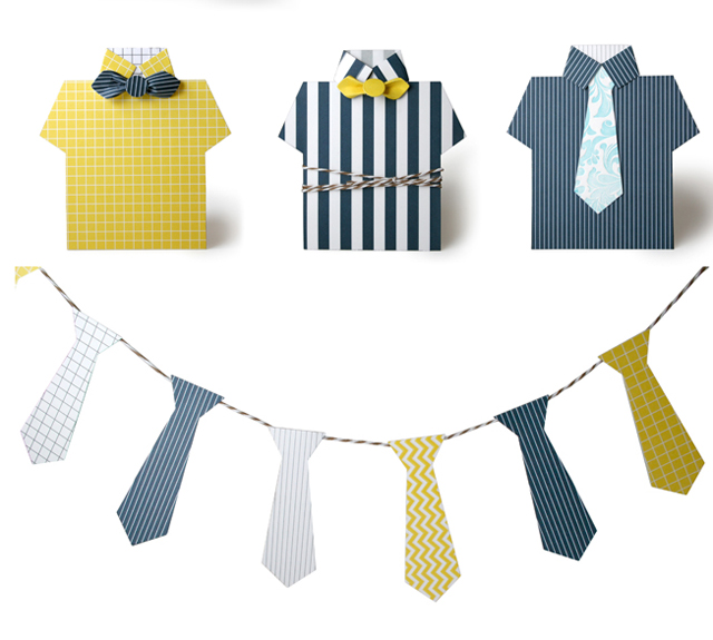 Shirts andd ties for Fathes Day (free printable)