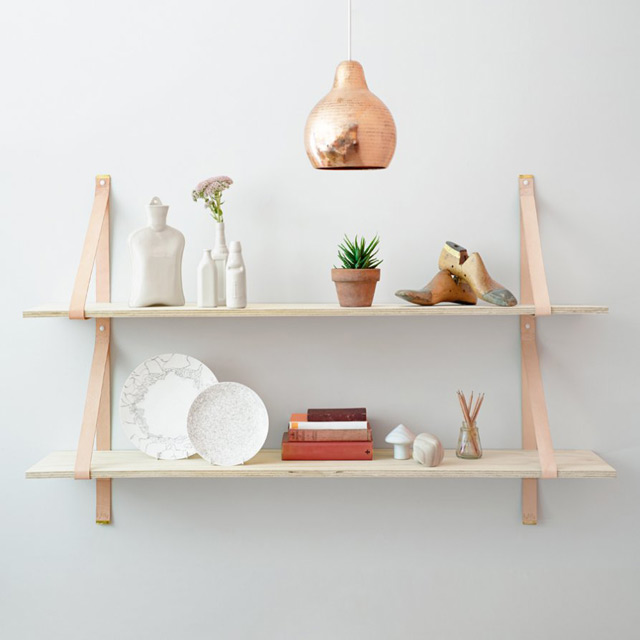 Assemblages leather shelves - Latest design by Lightly