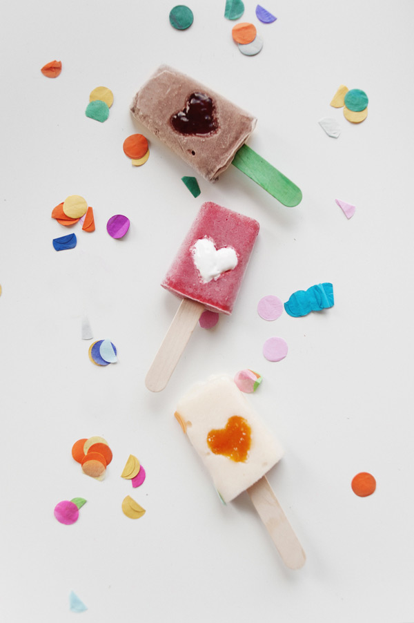 Popsicles in different flavours