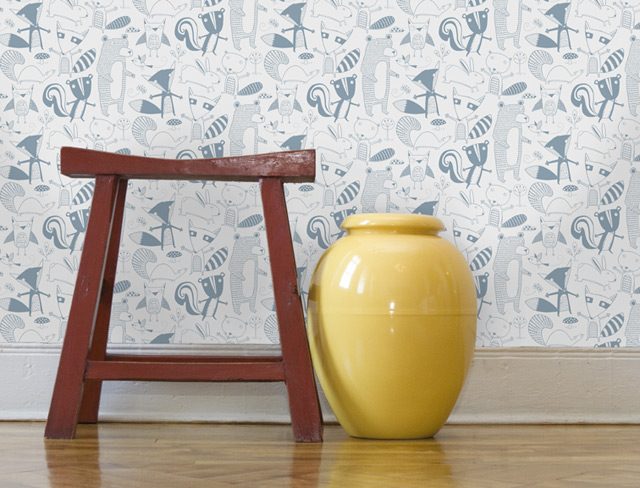 Wallpaper inspiration for a boys nursery room!