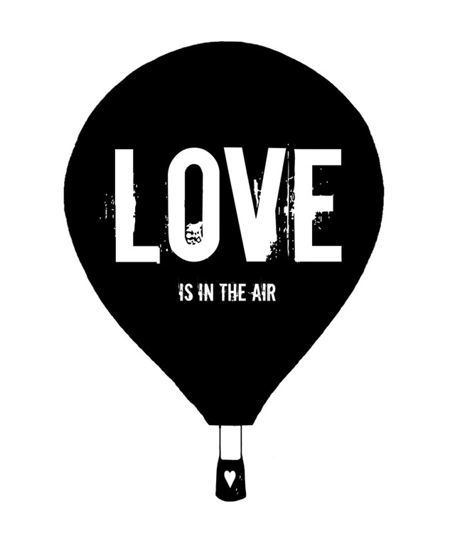 Print 'Love is in the air'