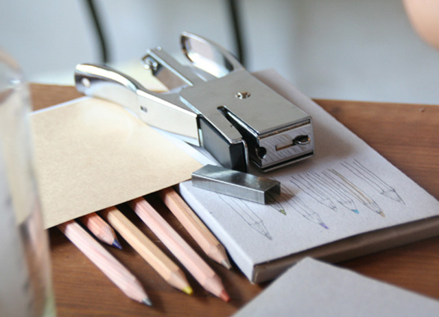 I love this old-fashioned stapler!