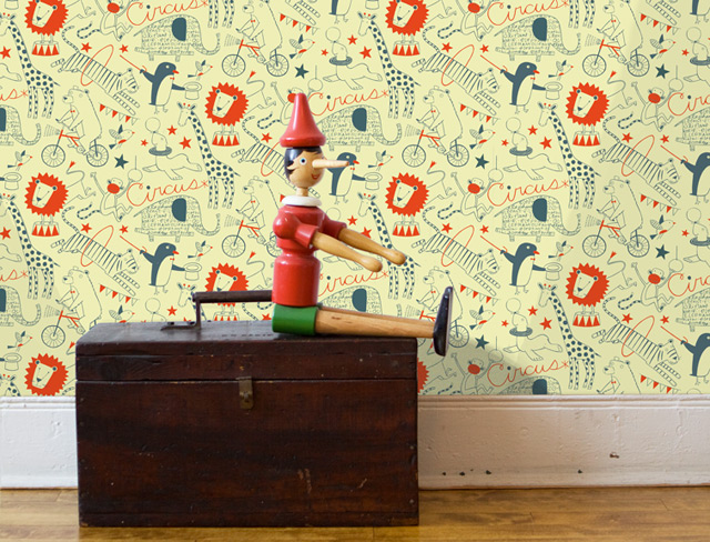 Perfect for a boys room! Wallpaper Circus by Loboloup
