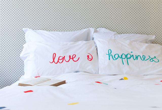 Pillowcases Love & Happiness by Feliz