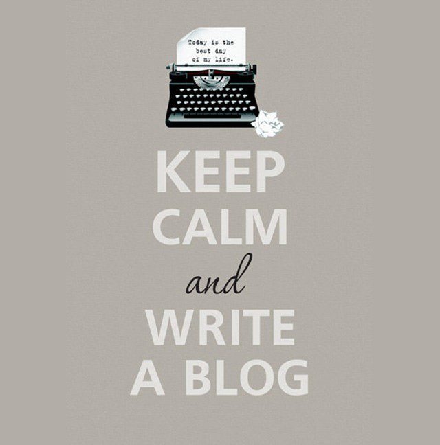 Keep kalm and write a blog