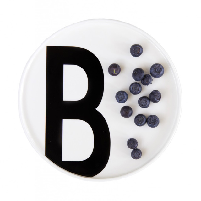Design Letters plate with letter B