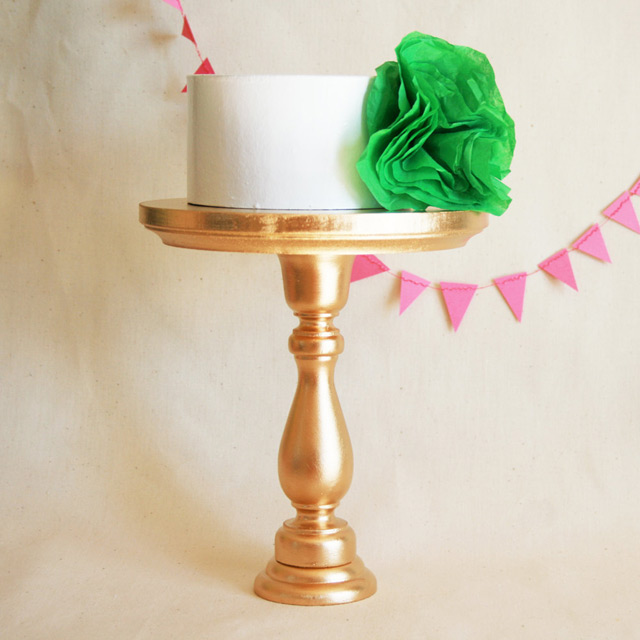 Gold cake stand by A Fabulous Fete