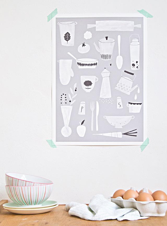 Print 'Kitchen' by Studio Meez