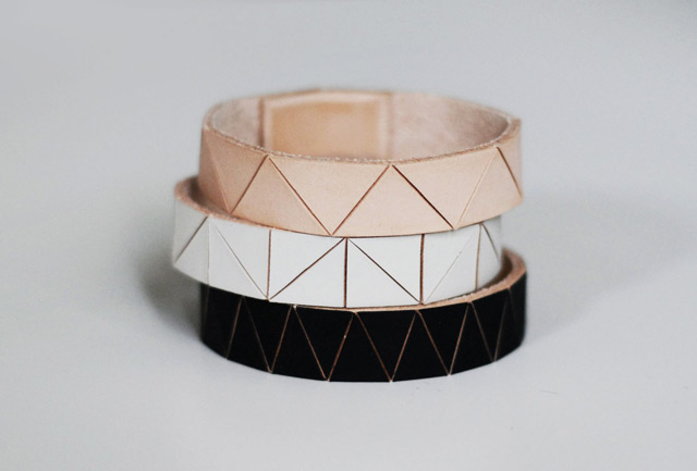 Leather Bangles by BrickAndArrow