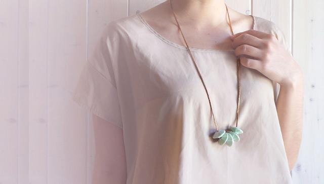 Necklace mint by Rachel Gant